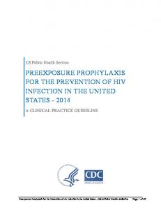 Preexposure Prophylaxis for the Prevention of HIV in the ...