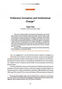 Preference Formation and institutional Change - Brazilian Political ...