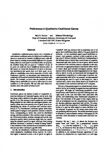 Preferences in Qualitative Coalitional Games