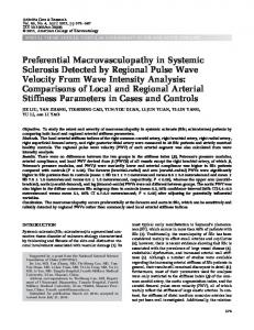 Preferential macrovasculopathy in systemic sclerosis detected by