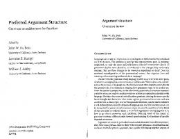 Preferred Argument Structure - UCSB Linguistics - University of ...