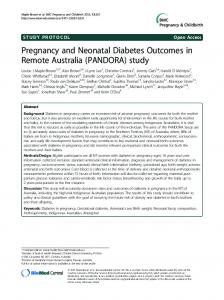 Pregnancy and Neonatal Diabetes Outcomes in ... - BioMedSearch