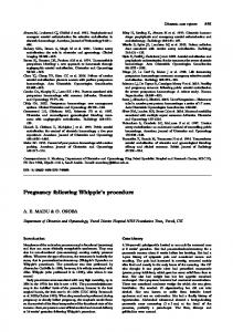 Pregnancy following Whipple's procedure