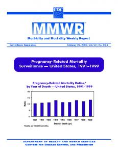 Pregnancy-Related Mortality Surveillance - Centers for Disease ...