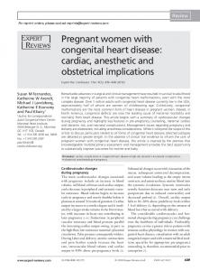 Pregnant women with congenital heart disease - Taylor & Francis Online