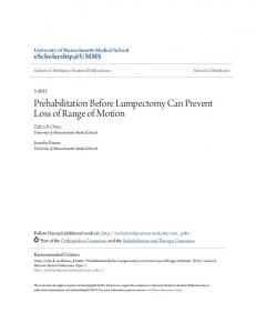Prehabilitation Before Lumpectomy Can Prevent Loss of Range of ...