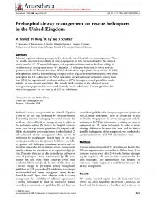 Prehospital airway management on rescue ... - Wiley Online Library