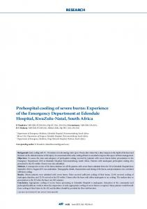 Prehospital cooling of severe burns