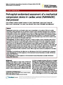 Prehospital randomised assessment of a mechanical compression ...
