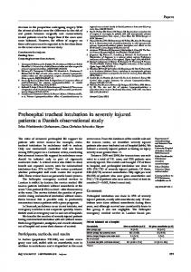 Prehospital tracheal intubation in severely injured patients: a Danish ...