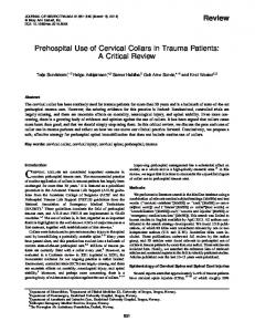 Prehospital Use of Cervical Collars in Trauma ... - Semantic Scholar