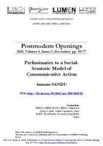 Preliminaries to a Social-Semiotic Model of Communicative Action