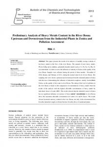 Preliminary Analysis of Heavy Metals Content in the River ... - PMF