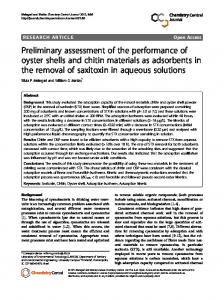 Preliminary assessment of the performance of oyster ... - BioMedSearch