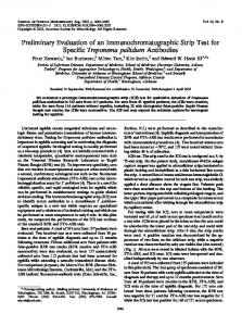 Preliminary Evaluation of an Immunochromatographic Strip Test for ...