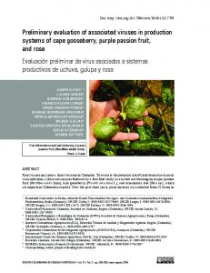 Preliminary evaluation of associated viruses in production systems of