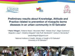 Preliminary results about Knowledge, Attitude and ...
