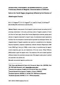Preliminary Results of Magnetic Characterisation of