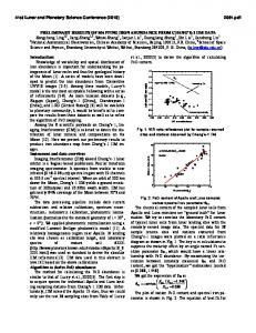 PRELIMINARY RESULTS OF MAPPING IRON ABUNDANCE FROM ...