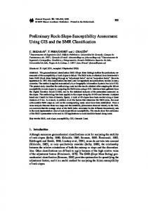 Preliminary Rock-Slope-Susceptibility Assessment