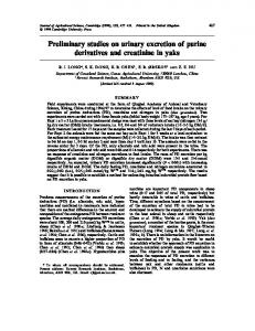 Preliminary studies on urinary excretion of purine derivatives and ...