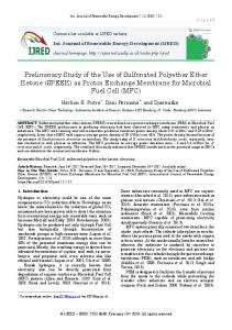 Preliminary Study of the Use of Sulphonated Polyether Ether Ketone