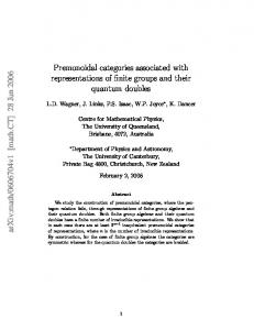 Premonoidal categories associated with representations of finite