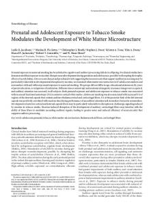 Prenatal and Adolescent Exposure to Tobacco ... - Semantic Scholar