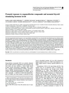 Prenatal exposure to organochlorine compounds and ... - Nature