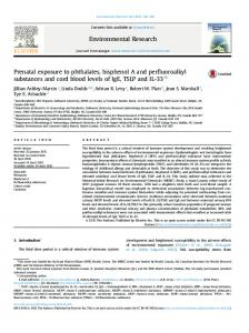 Prenatal exposure to phthalates, bisphenol A and perfluoroalkyl ... - Core