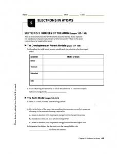 Prentice Hall Chemistry Worksheets - Tubman