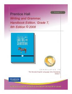 Prentice Hall Writing and Grammar, Handbook Edition - Pearson