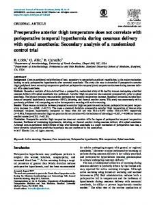 Preoperative anterior thigh temperature does not correlate with ...