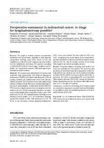 Preoperative assessment in endometrial cancer. Is ...