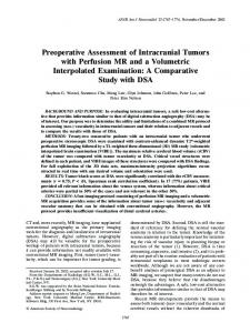 Preoperative Assessment of Intracranial Tumors ... - Semantic Scholar