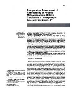 Preoperative Assessment of Resectability of Hepatic ...