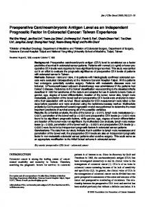 Preoperative Carcinoembryonic Antigen Level as an Independent ...