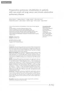 Preoperative pulmonary rehabilitation in patients with ... - BioMedSearch