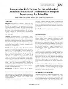 Preoperative Risk Factors for Intraabdominal ... - Semantic Scholar
