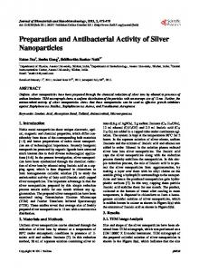Preparation and Antibacterial Activity of Silver Nanoparticles