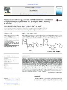 Preparation and antifouling properties of PVDF ultrafiltration ...