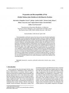 Preparation and Biocompatibility of Poly (Methyl Methacrylate ...