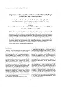 Preparation and Biodegradation of