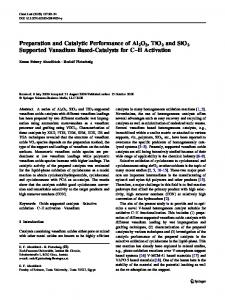 Preparation and Catalytic Performance of Al2O3, TiO2 ... - Springer Link