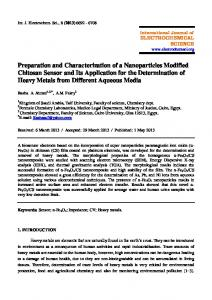 Preparation and Characterization of a Nanoparticles Modified
