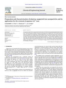 Preparation and characterization of alumina-supported iron