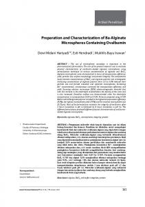 Preparation and Characterization of Ba-Alginate ... - JFIOnline