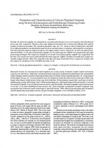 Preparation and Characterization of Calcium Phosphate ... - UKM
