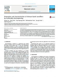 Preparation and characterization of chitosan-based ...