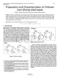 Preparation and Characterization of Chitosan from Shrimp shell ... - Ijser